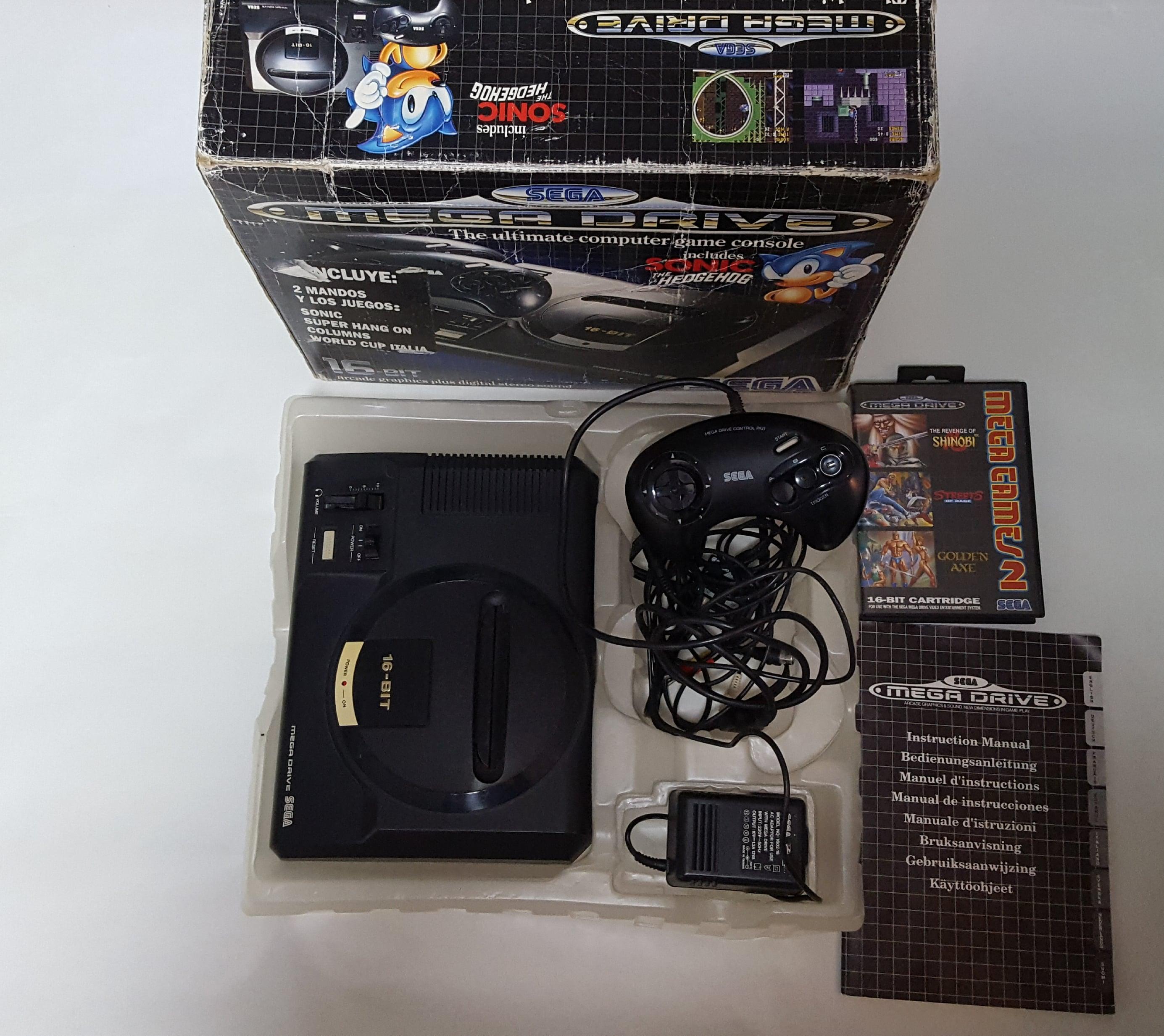 Consola Sega Megadrive Original En Caja Con Mando Y Pack De Juegos
