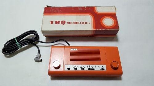 consola trq española naranja en caja original