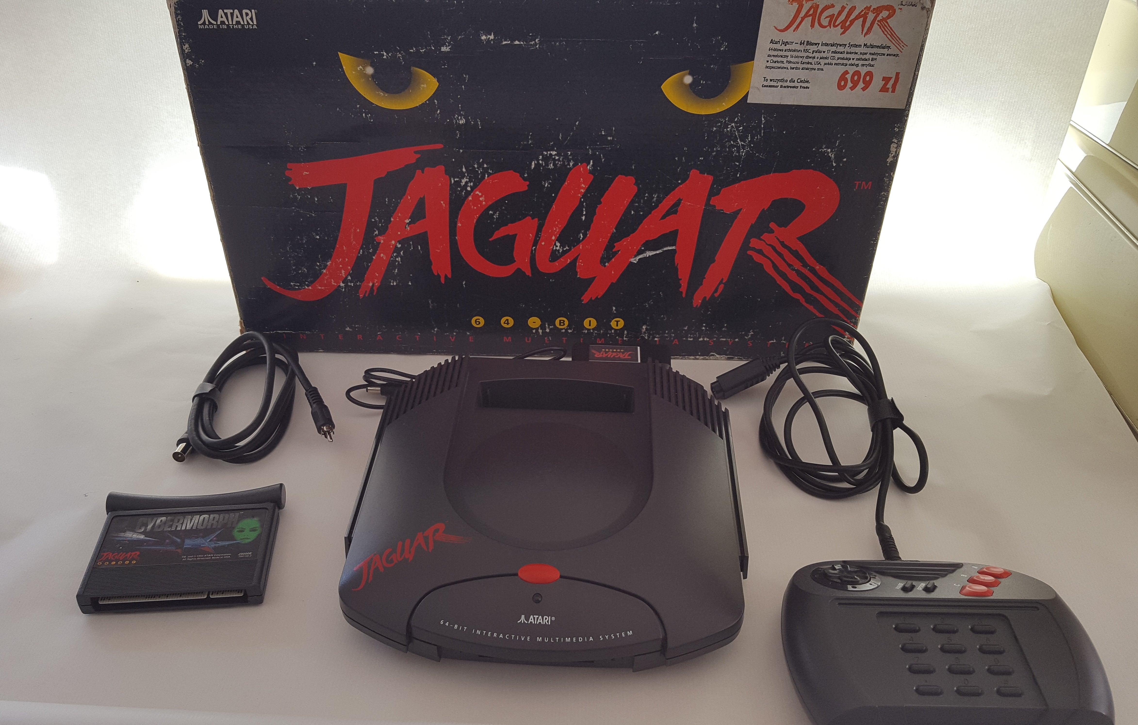 Consola Atari Jaguar Con Mando En Caja Original Y Juego Cybermorph