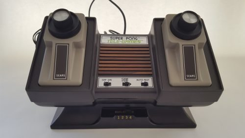 consola atari sears super pong vista frontal