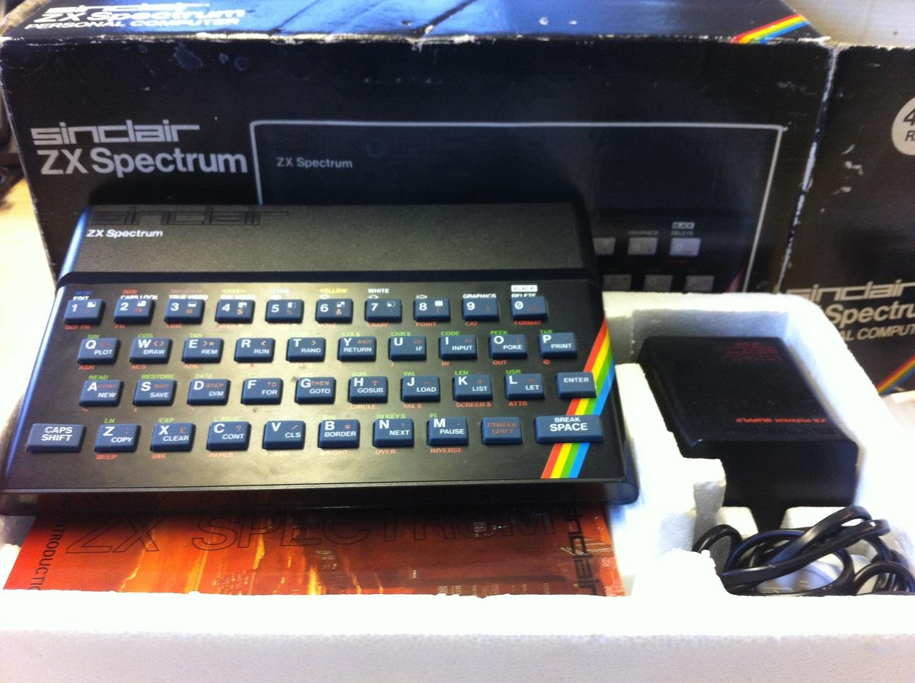 zx spectrum 48k en caja